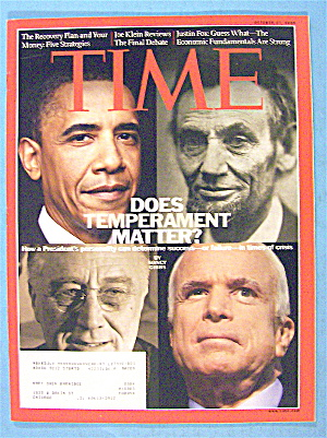 Time Magazine October 27, 2008 Does Temperament Matter?