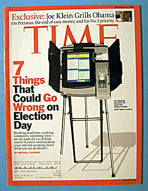 Time Magazine November 3, 2008 7 Things Go Wrong