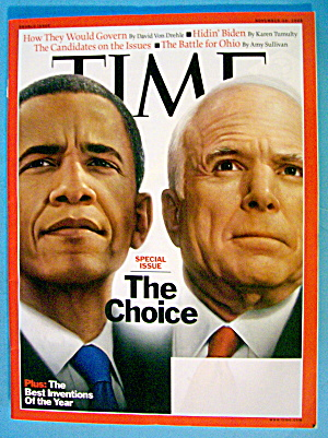 Time Magazine November 10, 2008 The Choice