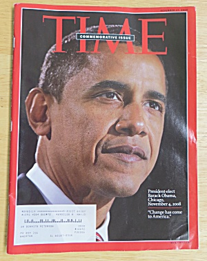 Time Magazine November 17, 2008 Barack Obama