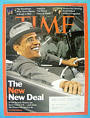 Time Magazine November 24, 2008 Obama: The New Deal