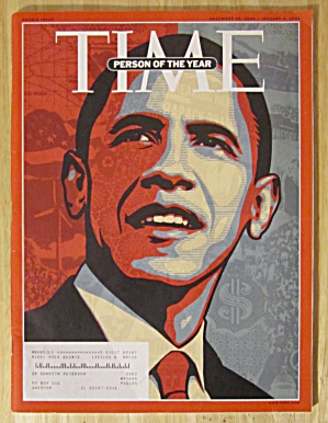 Time Magazine December 29, 2008-january 5, 2009 Obama