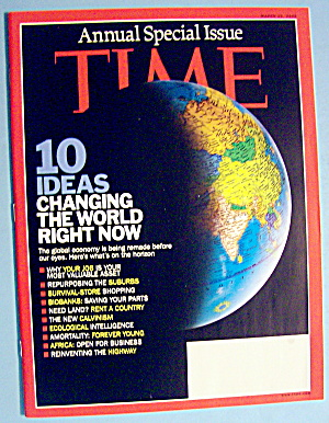 Time Magazine March 23, 2009 Changing The World