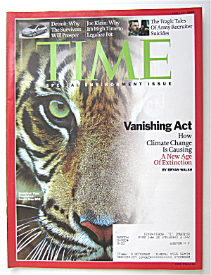 Time Magazine April 13, 2009 Vanishing Act