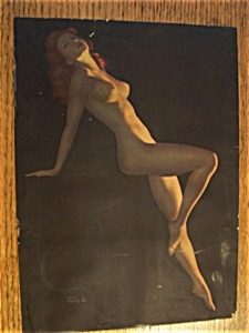 Vintage Pin Up Of 1940's Nude By Earl Moran