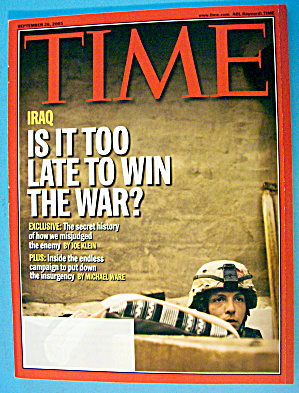 Time Magazine September 26, 2005 Iraq: Is It Too Late