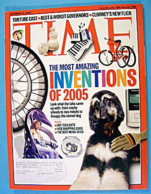Time Magazine November 21, 2005 Inventions Of 2005