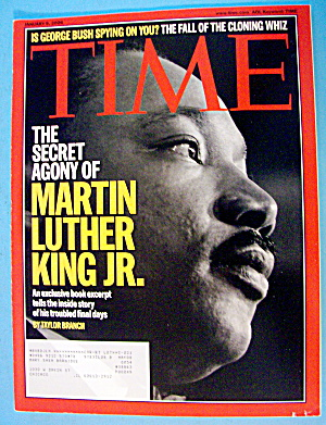 Time Magazine January 9, 2006 Martin Luther King Junior