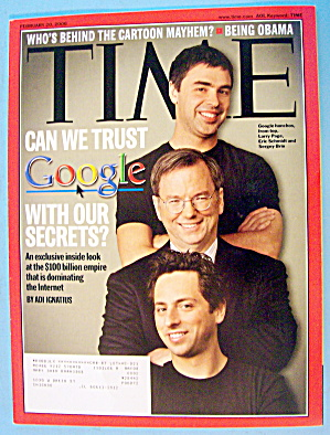 Time Magazine February 20, 2006 Can We Trust Google