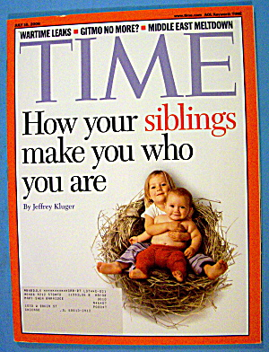 Time Magazine July 10, 2006 Siblings