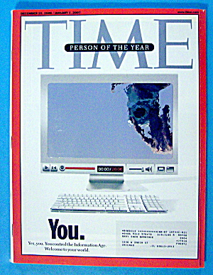 Time Magazine December 25, 2006-january 1, 2007 You