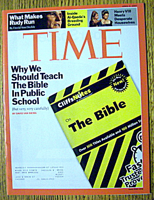 Time Magazine April 2, 2007 The Bible In Public School