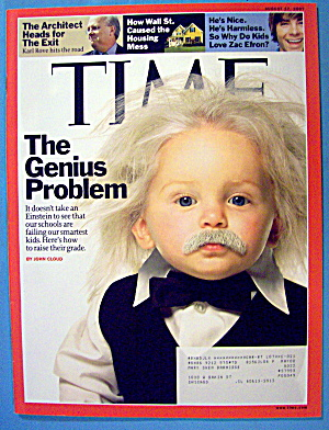 Time Magazine August 27, 2007 The Genius Problem