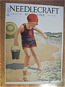 Needlecraft Magazine Cover By Grotz - August 1928