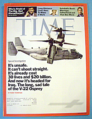 Time Magazine October 8, 2007 V-22 Osprey