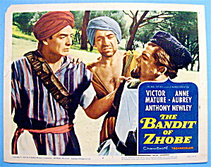 The Bandit Of Zhobe Lobby Card 1958 Victor Mature