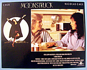 Moonstruck Lobby Card 1987 Cher & Nicolas Cage
