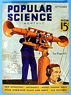 Popular Science Magazine September 1937 Sound Detector