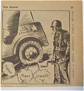 Political Cartoon - June 1, 1943 War Effort - Let Down (Image1)