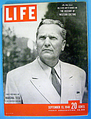 Life Magazine September 13, 1948 Marshal Tito (Image1)