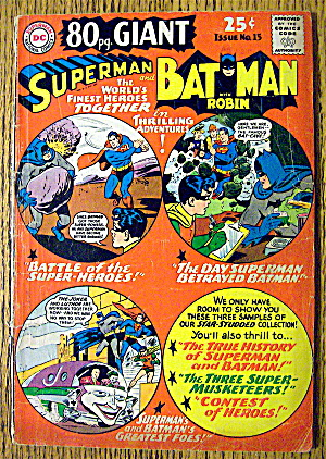 Superman And Batman Comic #15 October 1965 (Image1)