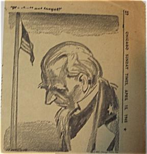 Political Cartoon - April 15,1945 President Dead (Image1)
