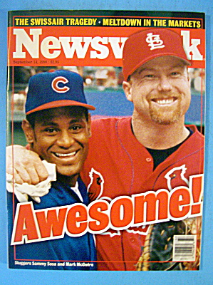 Newsweek Magazine September 14, 1998 Sosa & Mcgwire