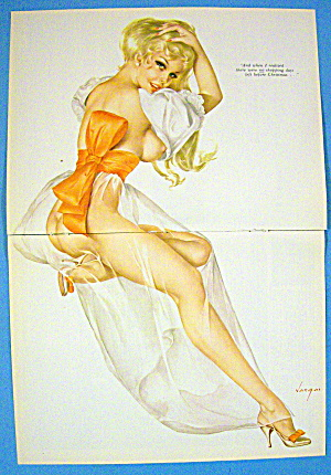 Vargas Pin Up Girl December 1969 Before Christmas
