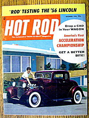 Hot Rod Magazine December 1955 Drop A Cad In Your Wagon