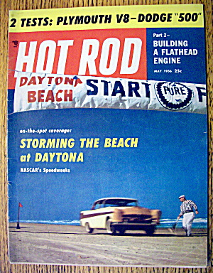 Hot Rod Magazine May 1956 Storming The Beach