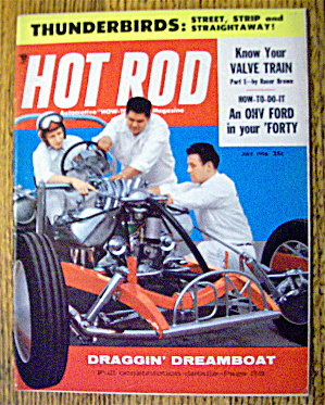 Hot Rod Magazine July 1956 Draggin' Dreamboat