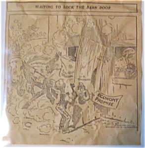 Political Cartoon - 1946 Waiting to Lock the Barn Door (Image1)