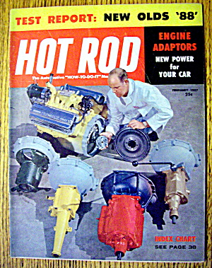 Hot Rod Magazine February 1957 New Olds 88