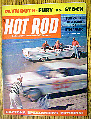 Hot Rod Magazine May 1957 Fury Vs. Stock