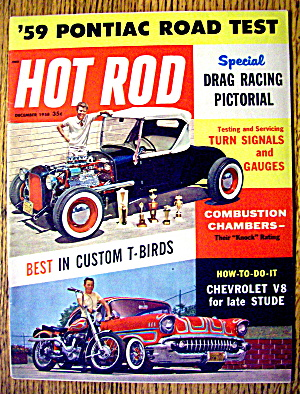 Hot Rod Magazine December 1958 Drag Racing Pictorial