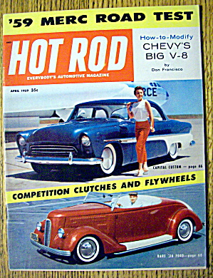 Hot Rod Magazine April 1959 How-to-modify Chevy's V-8