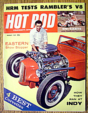 Hot Rod Magazine August 1959 How They Ran At Indy