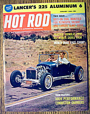 Hot Rod Magazine January 1961 World Drag Race Champ