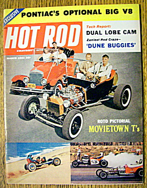 Hot Rod Magazine March 1961 Dune Buggies & Movietown T