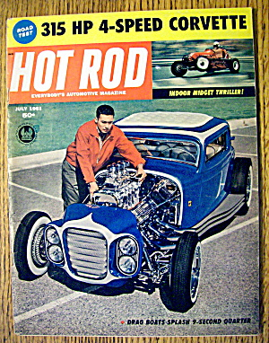 Hot Rod Magazine July 1961 Indoor Midget Thriller