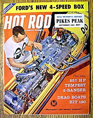 Hot Rod Magazine September 1961 Ford's New 4-speed Box