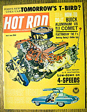 Hot Rod Magazine July 1962 Tomorrow's T-birds