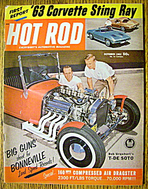 Hot Rod Magazine October 1962 Corvette Sting Ray (Image1)