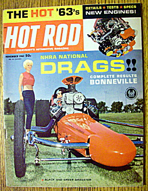 Hot Rod Magazine November 1962 NHRA National Drags (Image1)