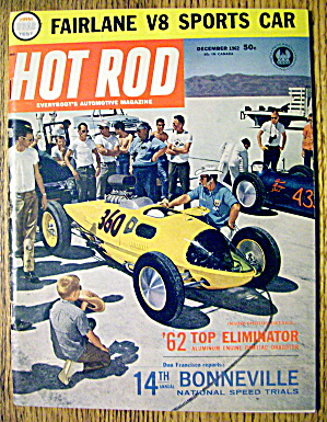 Hot Rod Magazine December 1962 Fairlane V-8 Sports Car