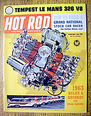 Hot Rod Magazine February 1963 Tempest Le Mans 326 V8