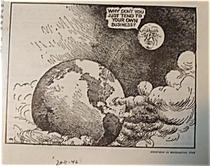 Political Cartoon - February 11, 1946 The Moon Comments (Image1)