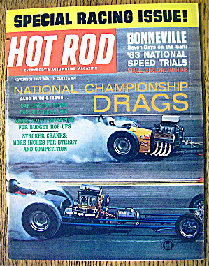 Hot Rod Magazine November 1963 Championship Drags