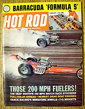 Hot Rod Magazine February 1965 Barracuda Formula S