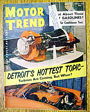 Motor Trend Magazine August 1954 Detroit's Hot Topic (Image1)